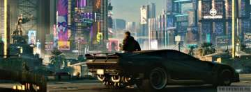 Video Game Cyberpunk 2077 Facebook cover photo