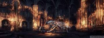 Video Game Dark Souls 3 Dragon Fight Facebook Wall Image