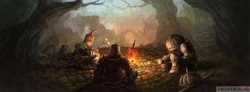 Video Game Dark Souls Around The Bonfire Facebook Cover