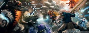 Video Game Dota 2 Fight Facebook Wall Image