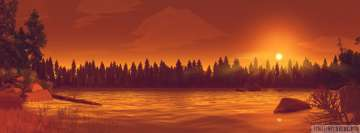 Video Game Firewatch That Sweet End of The Day Facebook Cover-ups