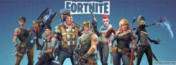 Video Game Fortnite Heroes with Title Facebook Cover-ups