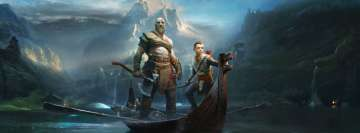 Video Game God of War 2018 Facebook Cover
