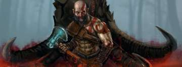 Video Game God of War 2018 Barbarian Warrior Facebook Cover-ups
