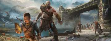 Video Game God of War Scavenging Facebook Background TimeLine Cover