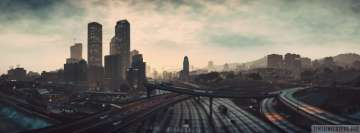 Video Game Grand Theft Auto V Cityscape Facebook cover photo