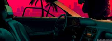 Video Game Hotline Miami in The Car Facebook Cover-ups