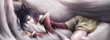 Video Game League of Legends Ahri Sleeping Facebook Cover Photo