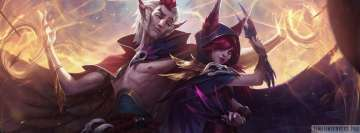 Video Game League of Legends Xayah and Rakan Facebook Cover