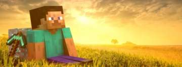 Video Game Minecraft Admiring The Sunset
