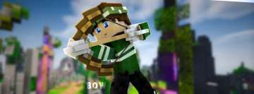 Video Game Minecraft Bow Facebook Cover-ups