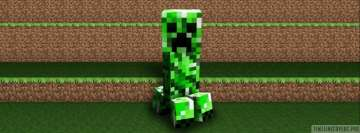 Video Game Minecraft Creepers Gonna Creep Facebook Wall Image