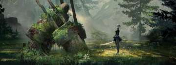 Video Game Nier Automata Facebook cover photo