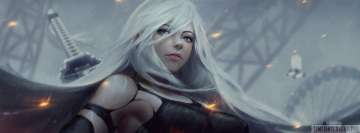 Video Game Nier Automata No Mask Facebook Cover-ups