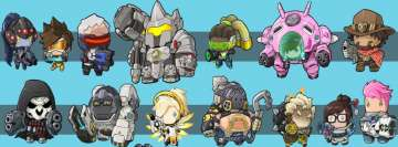 Video Game Overwatch Cartoon Heroes