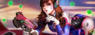 Video Game Overwatch D Va Facebook Cover Photo