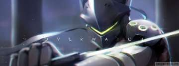 Video Game Overwatch Genji Facebook cover photo