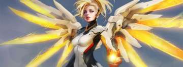 Video Game Overwatch Mercy Facebook Cover