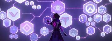 Video Game Overwatch Sombra Facebook Cover