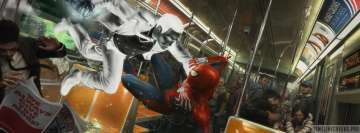 Video Game Spider Man Ps4 Subway Fight Fb Cover