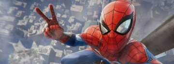 Video Game Spider Man PS4 Victory Facebook Cover-ups