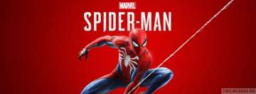 Video Game Spider Man Ps4 with Title Facebook cover photo
