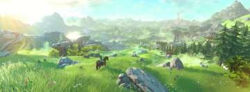 Video Game The Legend of Zelda Breath of The Wild Facebook Background TimeLine Cover