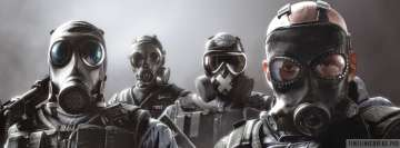 Video Game Tom Clancys Rainbow Six Siege Gas Masks Facebook cover photo