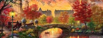 Vintage Autumn in Central Park New York City Facebook Background TimeLine Cover