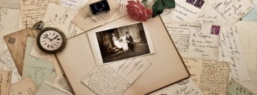 Vintage Wedding Photo Facebook Wall Image