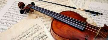 Violin and Music Sheets Facebook Background TimeLine Cover