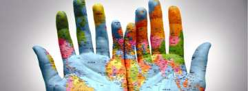 We Have The World in The Palm of Our Hands Facebook Banner