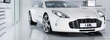 White Aston Martin One