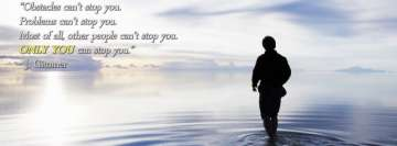 Who Can Stop You Motivational Facebook cover photo