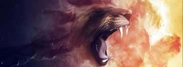 Wild Lion Facebook cover photo