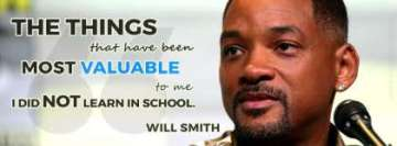 Will Smith Quote Most Valuable Things Facebook Banner