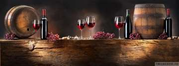 Wine Bottles and Barrels Facebook cover photo