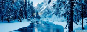 Winter Forest River Facebook cover photo