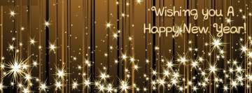 Wishing You Happy New Year Facebook Banner