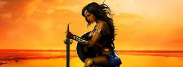 Wonder Woman in Sunset Facebook Cover Photo
