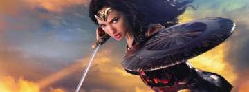 Wonder Woman Ready to Attack Facebook Wall Image