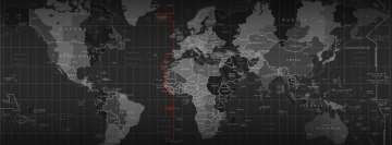 World Map Facebook Cover Photo