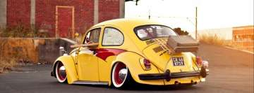 Yellow Volkswagen Beetle Facebook cover photo
