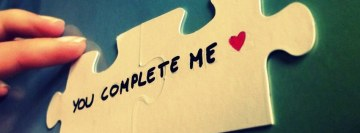 You Complete Me Puzzle Facebook cover photo