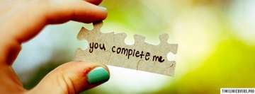 You Complete Me Green Facebook Banner