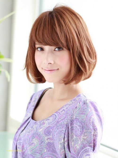 elegant fresh cute short hairstyles for round faces