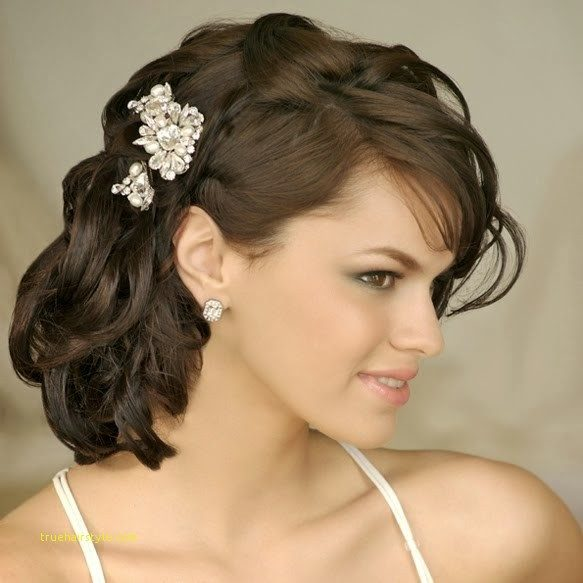 inspirational simple wedding hairstyle for medium length hair