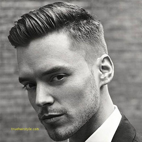 luxury perfect men short comb over hairstyles