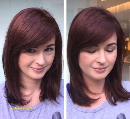 new fresh medium length haircuts with bangs in this year