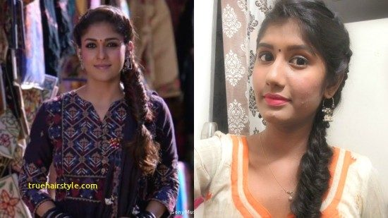 beautiful nayanthara hairstyle in this year